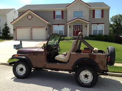 1985 Jeep CJ7 with Hardtop Removed